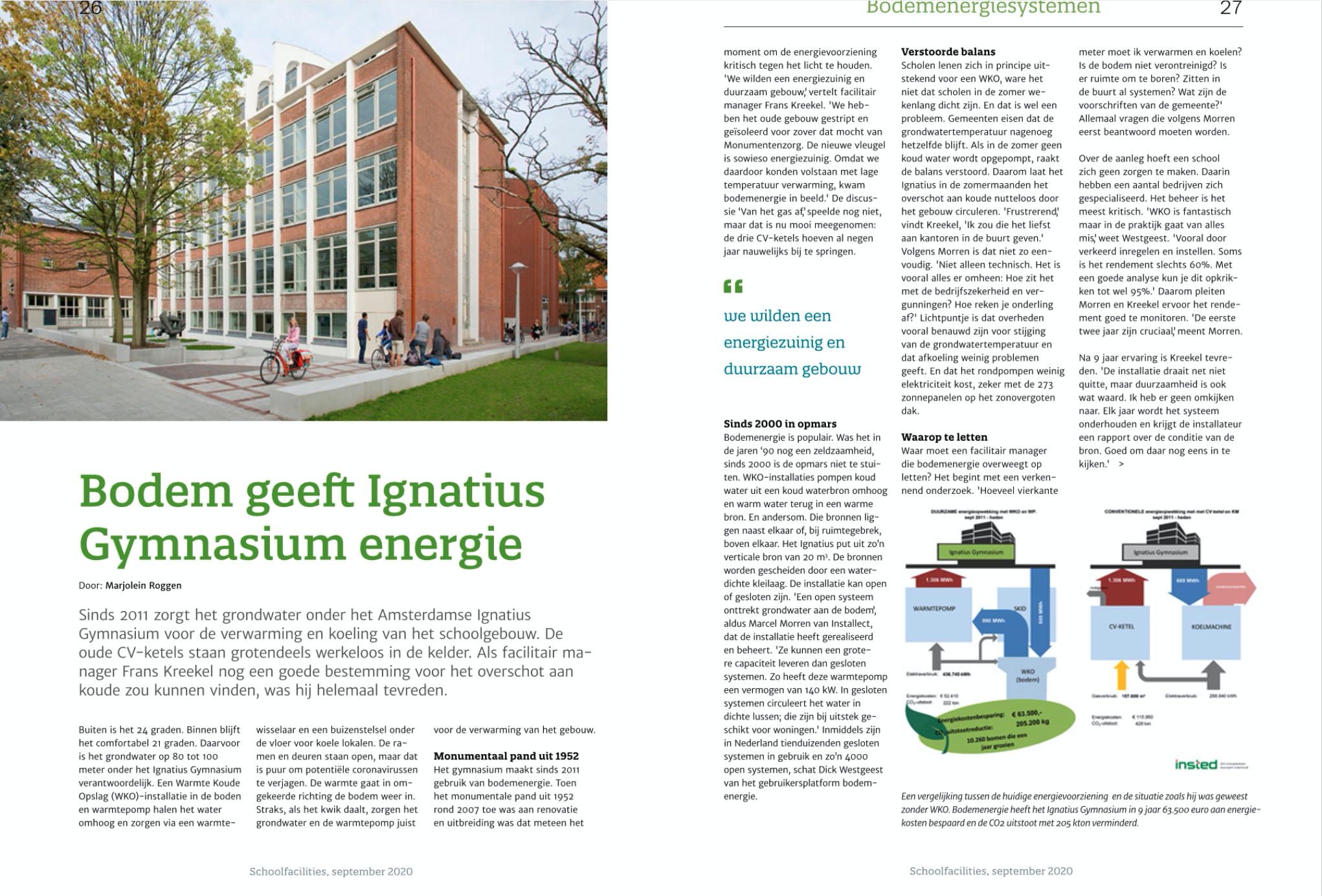 Wat bepaalt het succes van bodemenergie bij scholen?